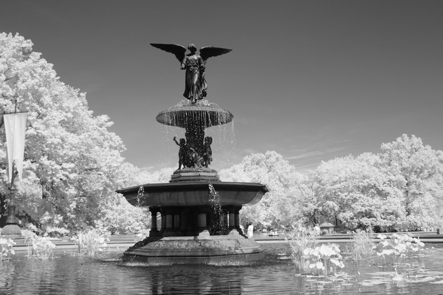 The Bethesda Fountain in Infrared