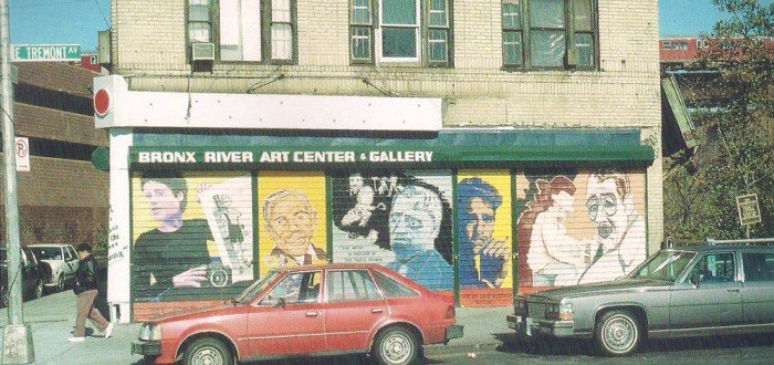 ©Artmakers Inc., Stars of the Bronx, one of two walls, 1998, Bronx, 9' x 36' and 9' x24'(from left) Reed, Jemison, Cockcroft, Stephenson, Cosin