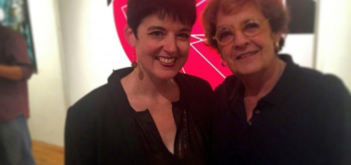 Deborah Cullen and Barbara Korman at the Hot or Cold? Opening Reception