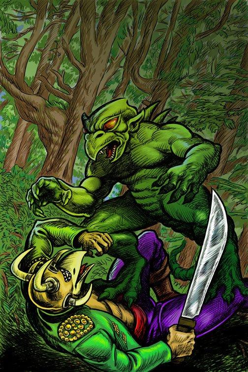 Mythography Comics Awutok-thon Versus Chupacabras