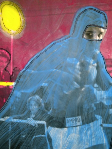 Mohammed Ali In A Burqa, detail