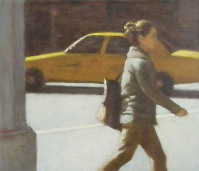 Pedestrian and Taxi