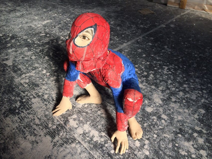 Sideview of Spiderman
