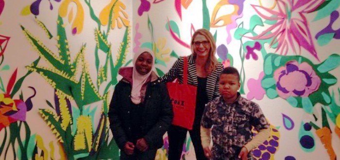 Natalie Collette Wood and her students from the Bronx Children Museum at Bronx Speaks