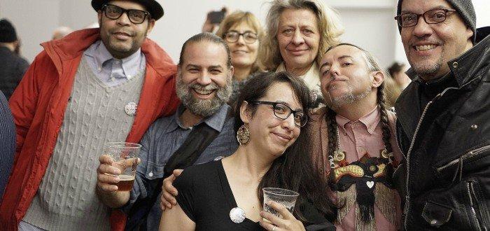©BX200 Launch Party/Alexis Mendoza, Xavier Figueroa, Beatrice Coron, Melissa Calderón, Martine Fougeron, Sean Paul Gallegos and Daniel DelValle, photo by Ed Alvarez