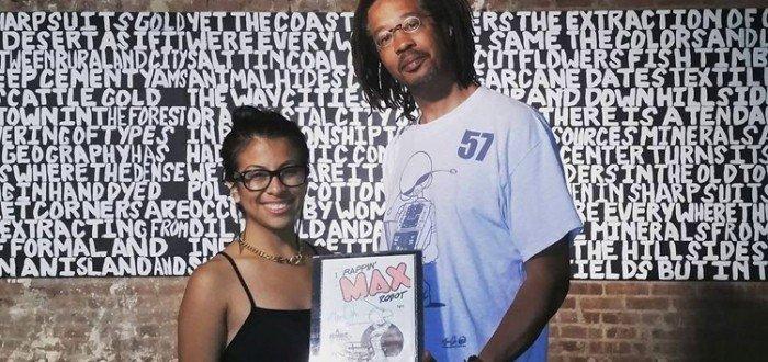 Stephanie Guzman with Eric Orr at BX200 Virtual Artist Studios @ No Longer Empty, Bronx Court House