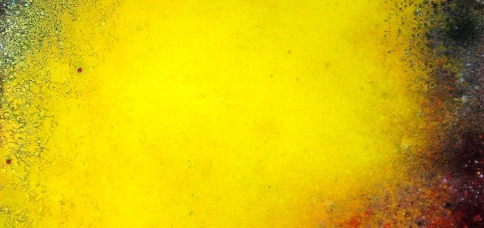 "Natvar Bhavsar (American, b. India, 1934), Kandariya VII, 1986-1991, dry pigment and acrylic, 52 x 40"""