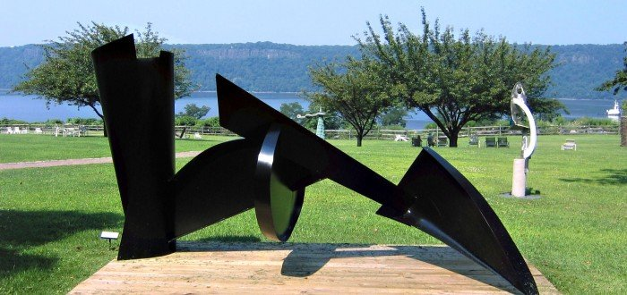"Herbert Ferber (American, 1906-1991), Notch View, 1978, steel, 6' 4 ¾""  x 12' x 6'"