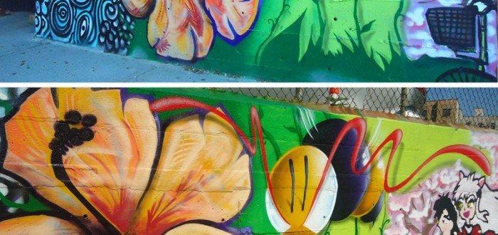 Ivan Gaete, Fever, King Bee @ #PeaceInTheStreets Mural