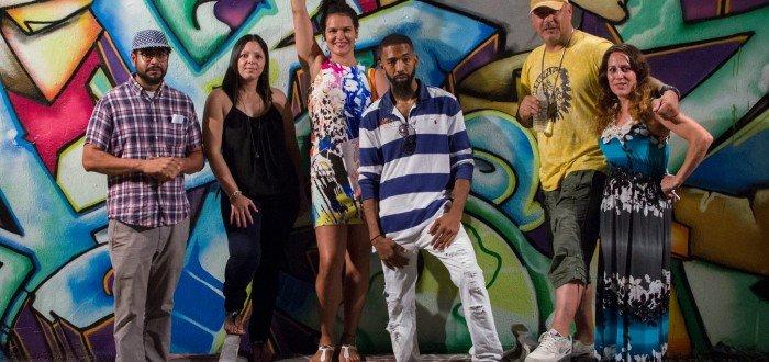 L-R Danny Peralta, Sandra Ayala, Dennesa Usher, Tkid,  and Fever at BX200 VAS @ Tuff City. Photo by Cinnamon Willis ©2015 cinnamonwillis@gmail.com