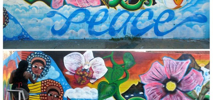 Laura James and Fever, King Bee @ #PeaceInTheStreets Mural