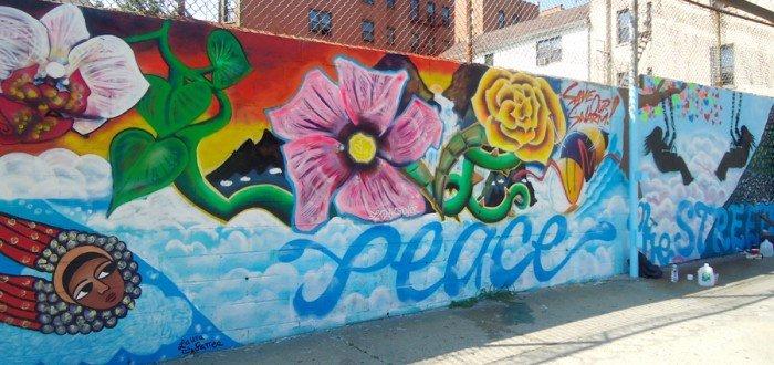 #PeaceInTheStreets Mural