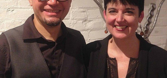 Arnaldo Morales and Deborah Cullen at the Hot or Cold? Opening Reception, photo by Elaine Delgado