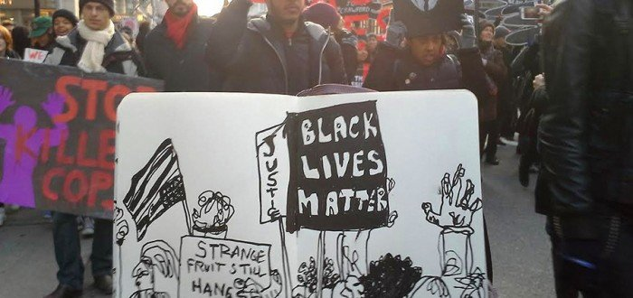 Black Lives Matter Protest, Manhattan ©SASHALYNILLO 2015