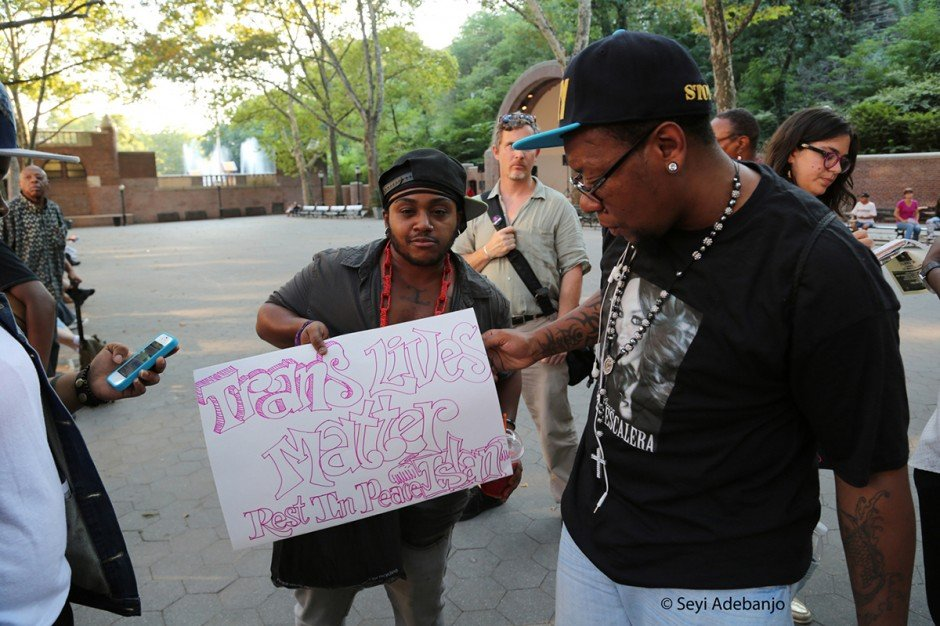 Trans Lives Matter!  Justice for Islan Nettles Harlem Vigil