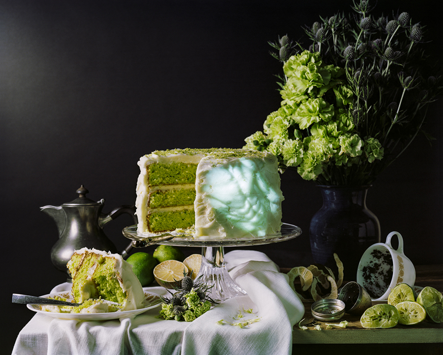 Still Life with Lime Cake Tea Projected Body